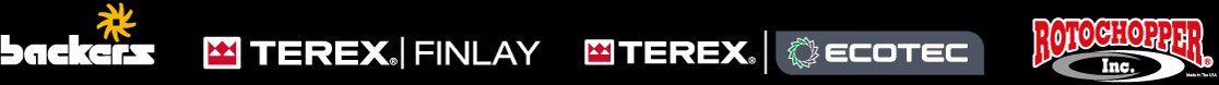 Logos Backers, Terex Finlay, Terex Ecotec, Rotochopper
