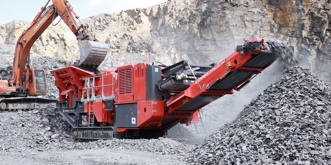 Maskiner för återvinning av grus och berg